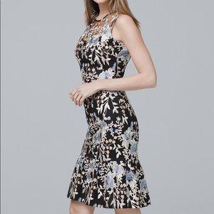 White House Black Market NWT embroidered dress